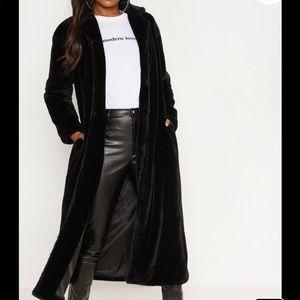 🆕 PLT Longline Faux Fur Coat